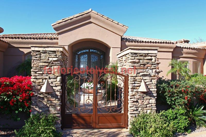 Ferforje bahçe kapısı fiyatları bahçe kapılarında ekonomi