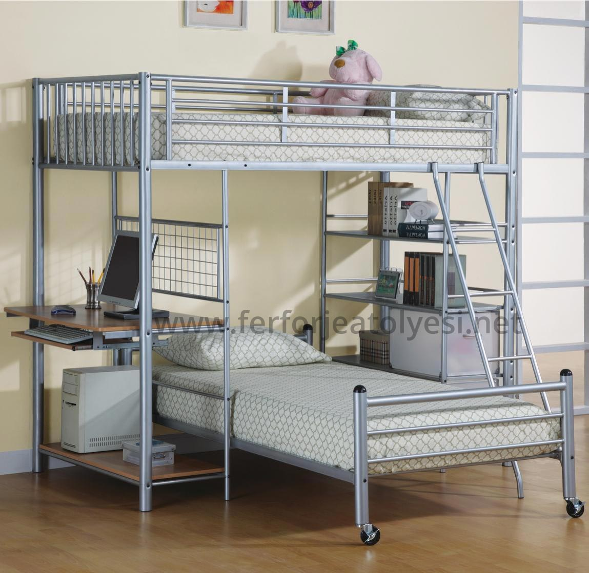 Full Size Bunk Bed Desk Combo
